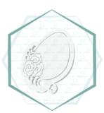 Jillbeesz Ei met Bloemen Uitsteker_