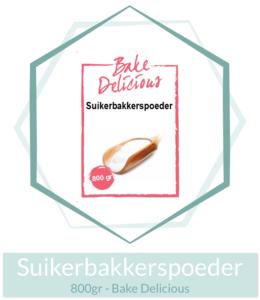 Suikerbakkerspoeder 800gr - Bake Delicious